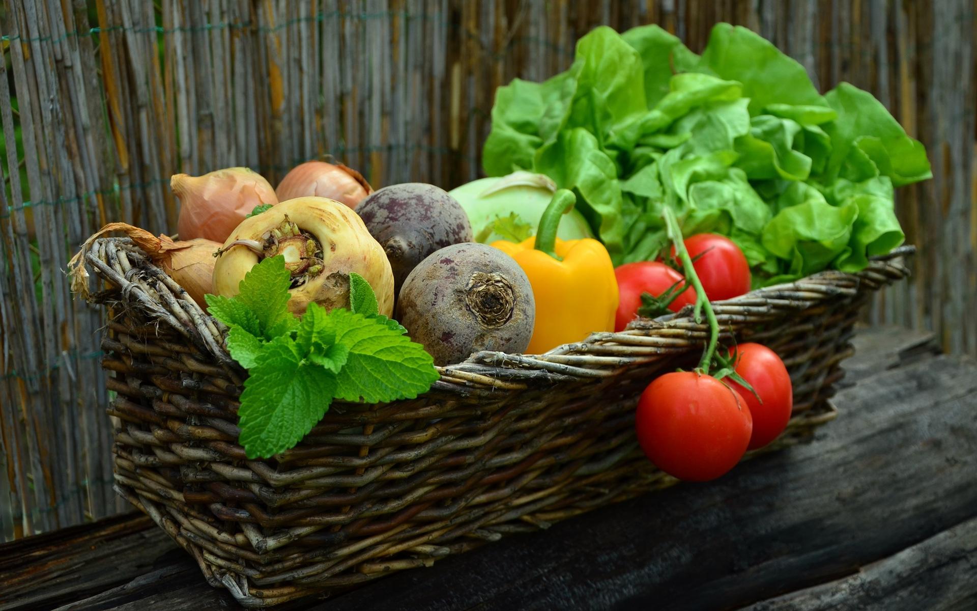 Obst Gemüse Markt Korb