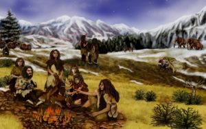 Neandertaler Steinzeit