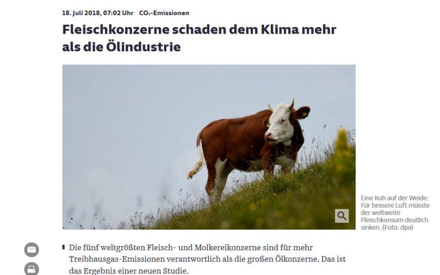 Milch und Fleisch schädlicher als Öl