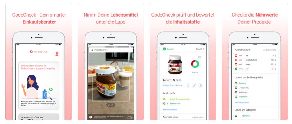 beste vegane apps nutripunk codecheck ios