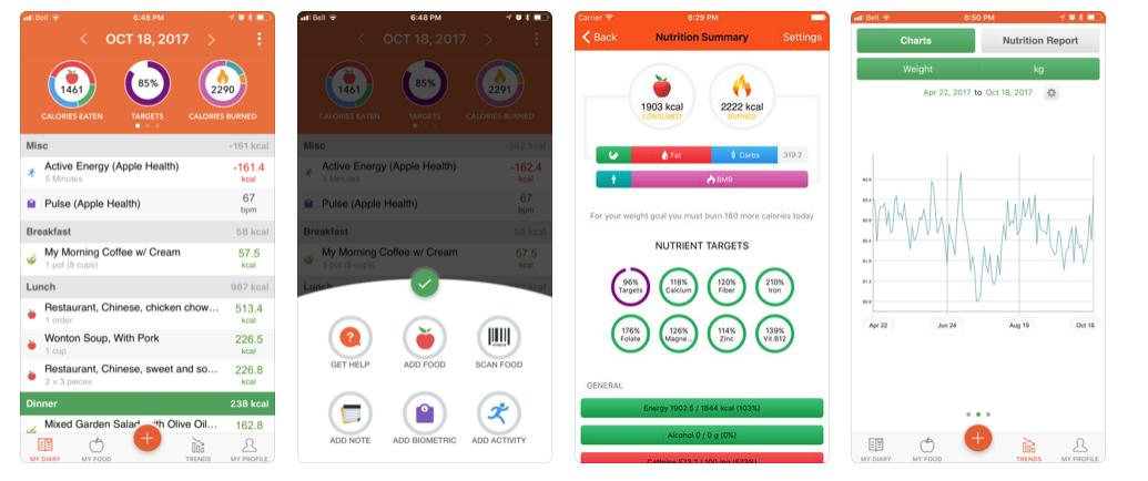 beste vegane apps nutripunk cronometer ios