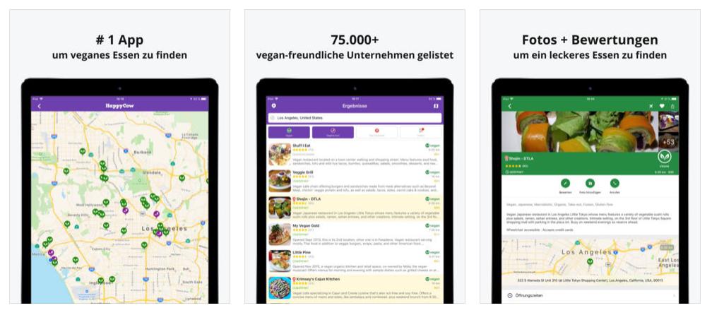 beste vegane apps nutripunk happy cow ios