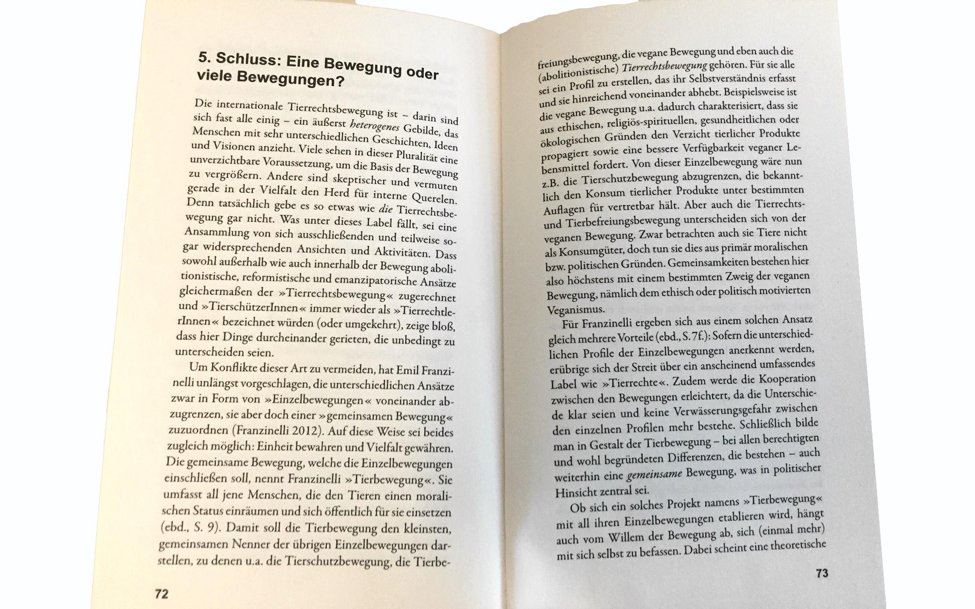 Tierrechtsbewegung Klaus Petrus Buch Kritik Rezension Auszug Fazit