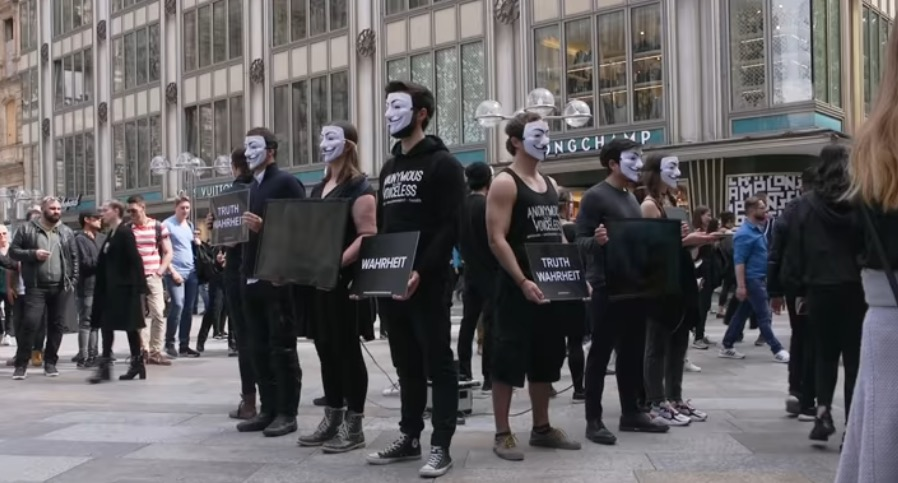 Anonymous for the Voiceless Cube of Truth FUNK Reporter Youtube