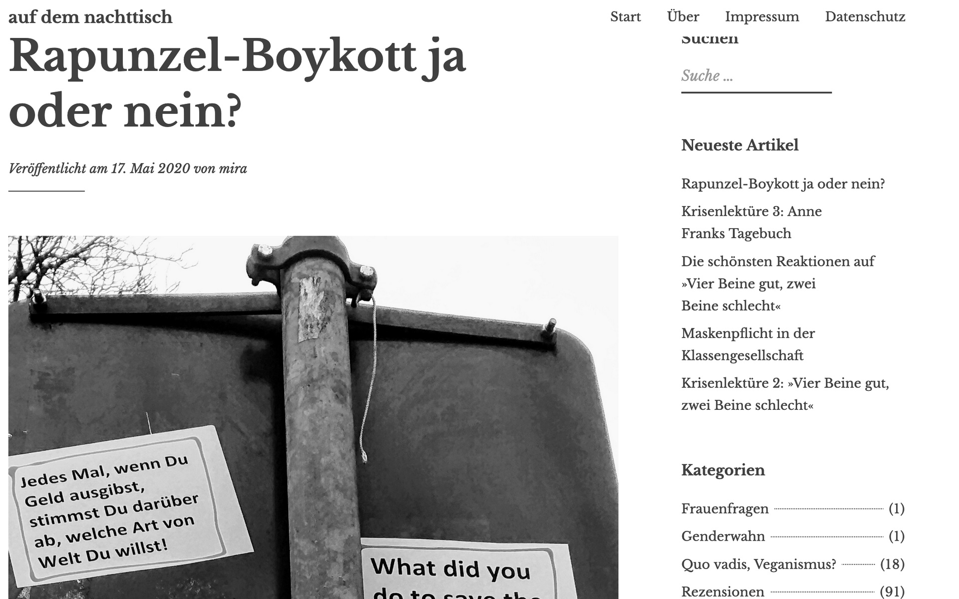 Rapunzel Boykott Landwehr