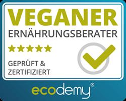 ecodemy veganer ernährungsberater siegel