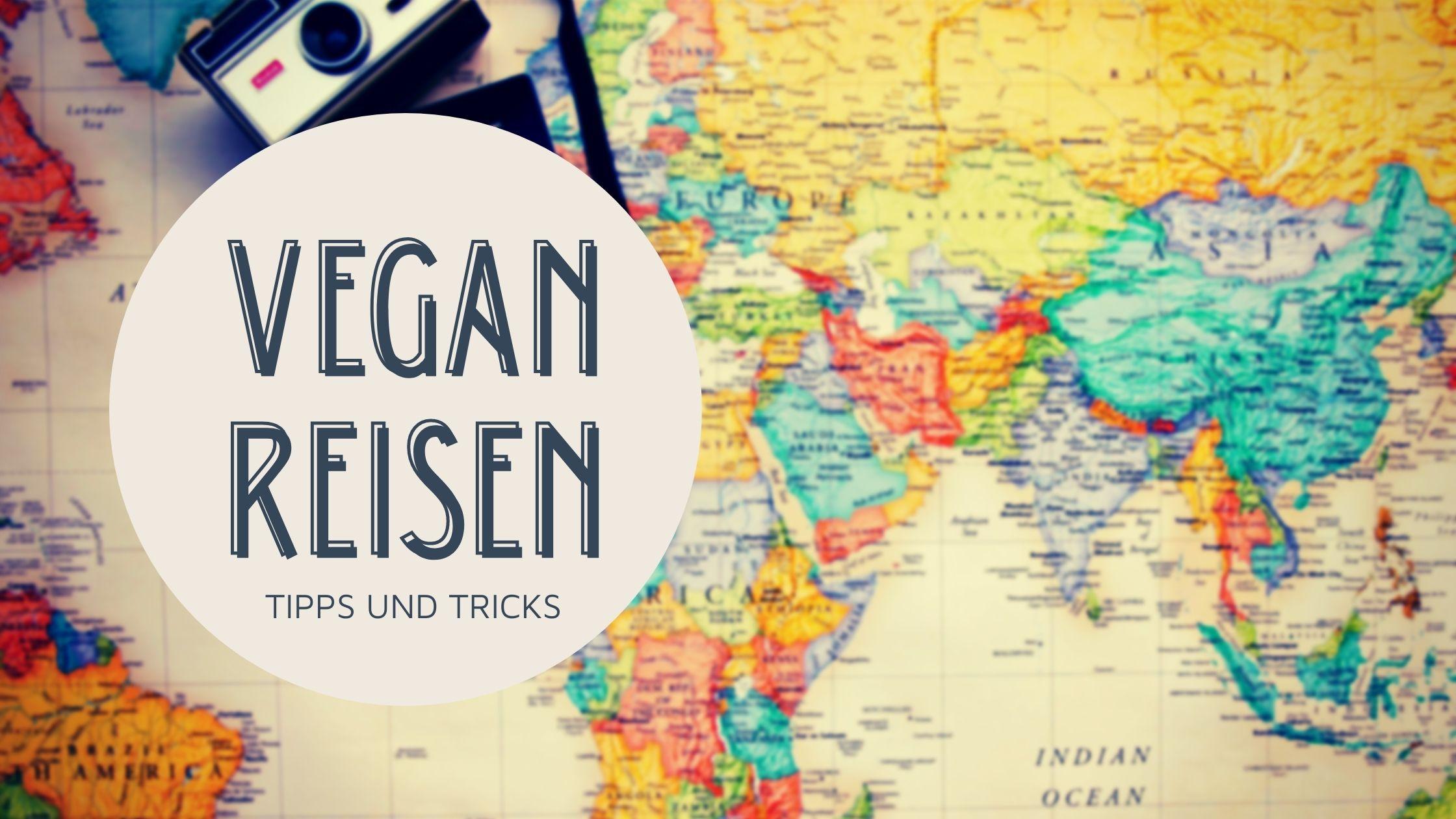 Vegan Reisen Weltkarte Teaser