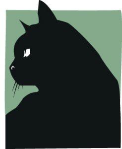 animot verlag logo schwarze katze anarchie